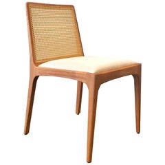 """Julia"" Minimalist Chair in Solid Wood and Customized Handwoven"