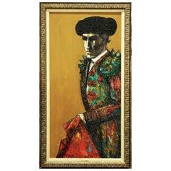 "Latin American Mid-Century Oil on Canvas ""Matador"" by Carlos Irizarry, 1965"