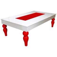 Modern Design Dining Table Billiard Snooker Pool Ping-Pong Table in White & Red