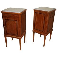 Pair of Satinwood Bedside Cabinets / Nightstands
