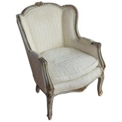 Antique Louis XV Style Bergère Chair