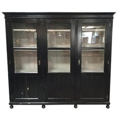 Antique Black European Hutch