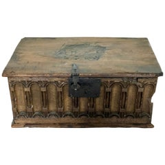 Antique Walnut Document Box 17th Century
