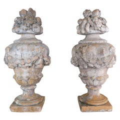 Pair of French Garden Ornaments, circa 1940s