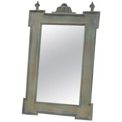 Old German Antique Style Wooden Mirror