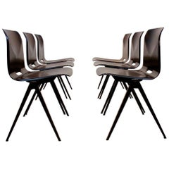 Stackable Pagholz Galvanitas S22 Industrial Diner Chair in Wenge, 1960s