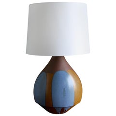 "Large Scale David Cressey ""Flame Glaze"" Ceramic Lamp"