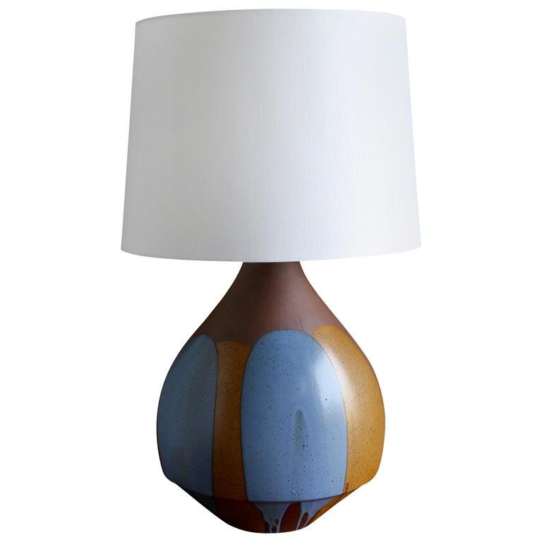 "Large Scale David Cressey ""Flame Glaze"" Ceramic Lamp"