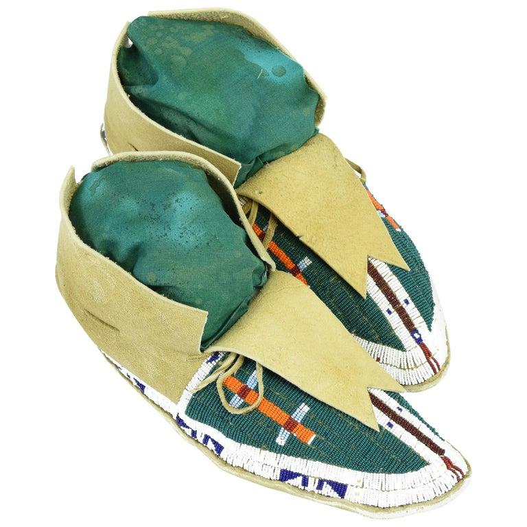 Sioux Beaded Moccasins For Sale