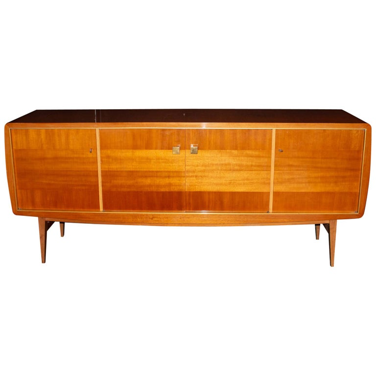 Fabulous Large Sideboard by Roger Landault, France, 1950s, Probably Ashtree For Sale