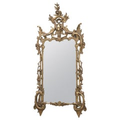 Italian Baroque Style Carved Giltwood Mirror, 19th Century
