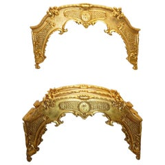 Four Louis XVI Style Giltwood Window Cornices