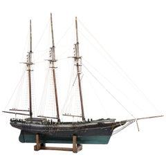Three-Masted Folk Art Ship Model