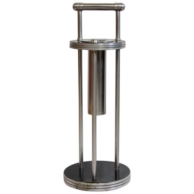 Warren McArthur Stainless Steel Smoking Stand, 1934-1935