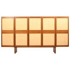 Fine Quality Danish Highboard/Cabinet in Rosewood and Linen Space Wonder