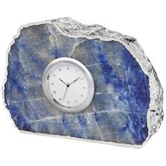 Ampliar Clock in Indigo and Silver by Anna Rabinowitz