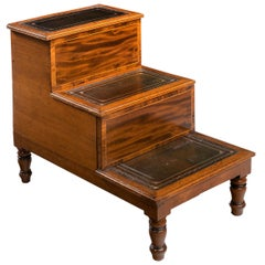 Late George III Period Bed Step Commode