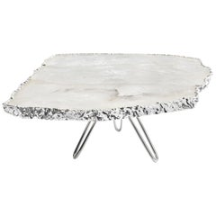 Torta Cake Stand in Agate and Silver by Anna Rabinowitz