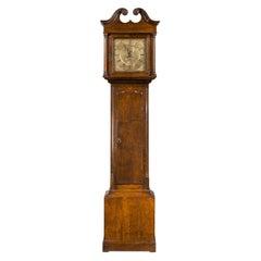 Small and Attractive, Late 19th Century Oak Longcase Clock