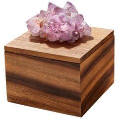 Bosque Tray in Bosque Wood and Amethyst by Anna Rabinowitz