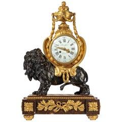Napoleon III Period Gilt Bronze Mantel Clock by Brulfer of Paris