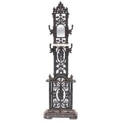 Unusual Original Victorian Cast Iron Hall Stand