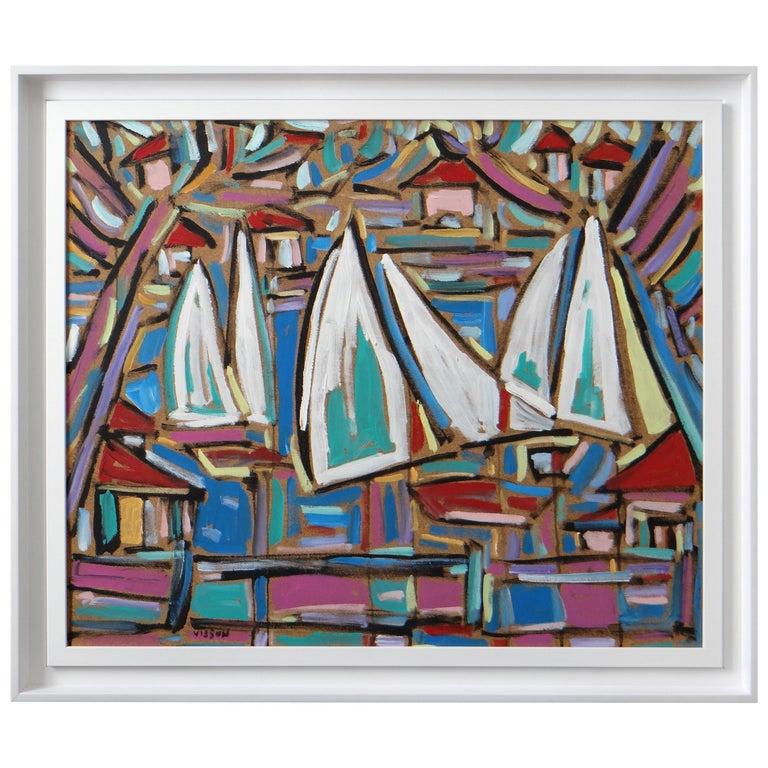 """Philippe Visson Painting """"Mouvances"""", 1997 For Sale"""