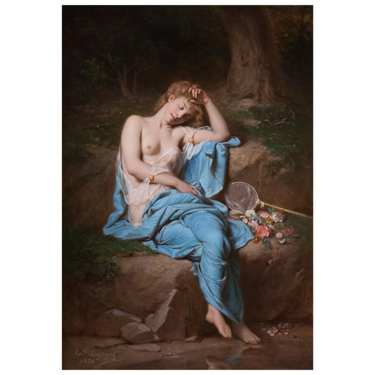 Young Lady Resting in a Wooded Glade For Sale