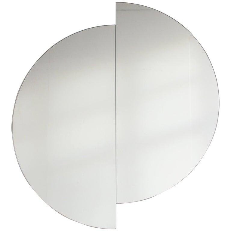 "Luna Orbis Half Circle Round Mirror - 2 Pieces 50cm/19.7"""