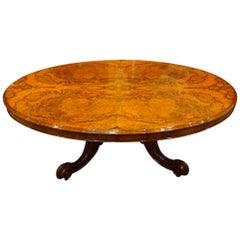 Victorian Oval Walnut Coffee Table