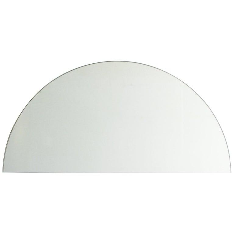 """Luna Orbis Semi Round Mirror Frameless, 1 Piece 50cm/19.7"""""""