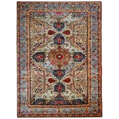 Floor Rug, Persian Rugs, Oriental Carpets from Antique Vary Rare Tehran Rug