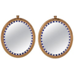 Rare Pair of Early 19th Century Giltwood and Glass Mirrors by Samuel Jennings