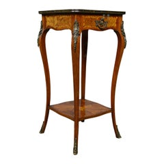 French Antique Étagère, Kingwood Side Table, Nightstand, Druce & Co, circa 1870