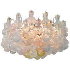 1950s Seguso Murano Glass Bubble Chandelier