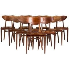 Set of Ten 1950s Dining Chairs by Richard Jensen and Kjærulff Rasmussen