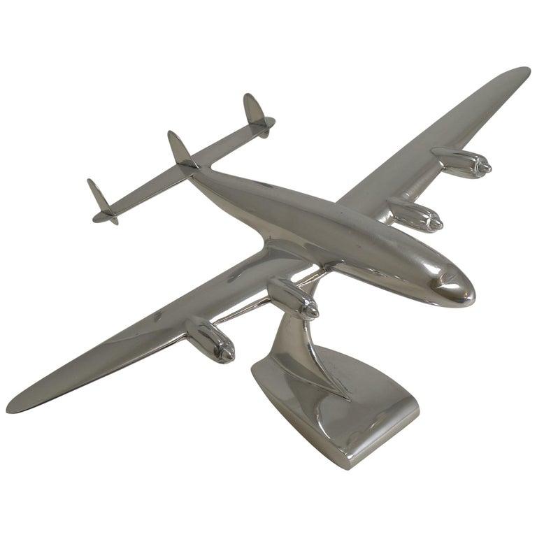 Vintage Lockheed Constellation Plane Model, circa 1950 For Sale