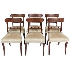Antique Set of Six Regency Mahogany Dining Chairs, 19th Century