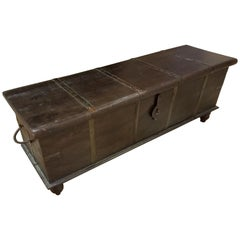Indian Wooden Bench Trunk, Media Stand