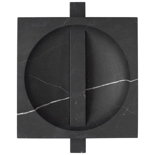 Contemporary Marble Bowl, Black Kinitra Marble, Handmade in Italy