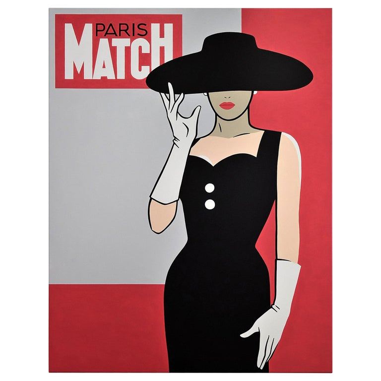 Pop Art Painting Paris Match by Luc Verschuuren, 2017