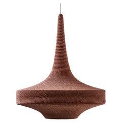 Glück Ø80 Pendant Light, Hand Crocheted in 100% Mercerized Egyptian Cotton