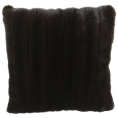 Luxurious Blacklama Mink Throw Pillows