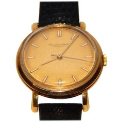 Men's Vintage International Watch Company 18 Karat Gold Wrist Watch