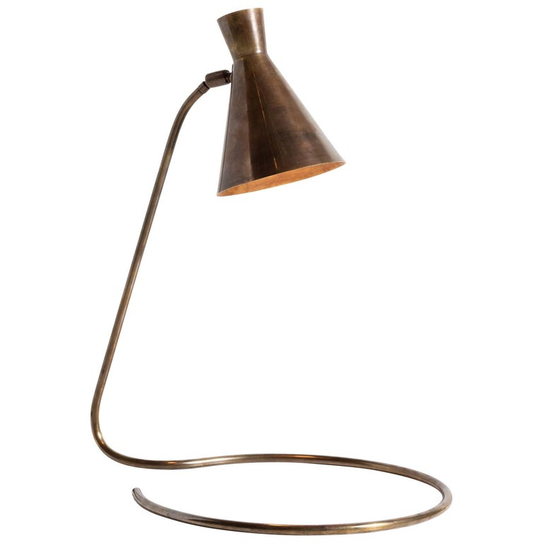 Brass Modern Table Lamp, circa 1950 For Sale