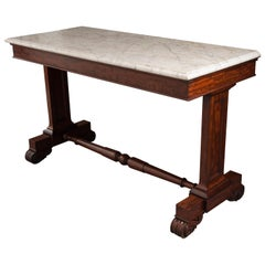 English Regency Style 19th Century Mahogany Marble-Top Console