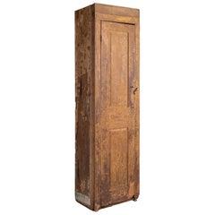 Primitive Oak and Pine Chimney Cabinet, circa 1900