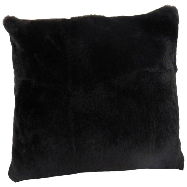 Luxurious Sheared Nutria Throw Pillows