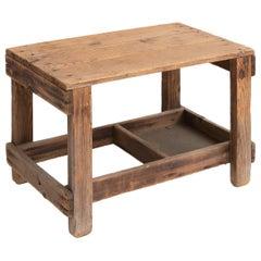 Primitive Pine Coffee Table, circa 1930