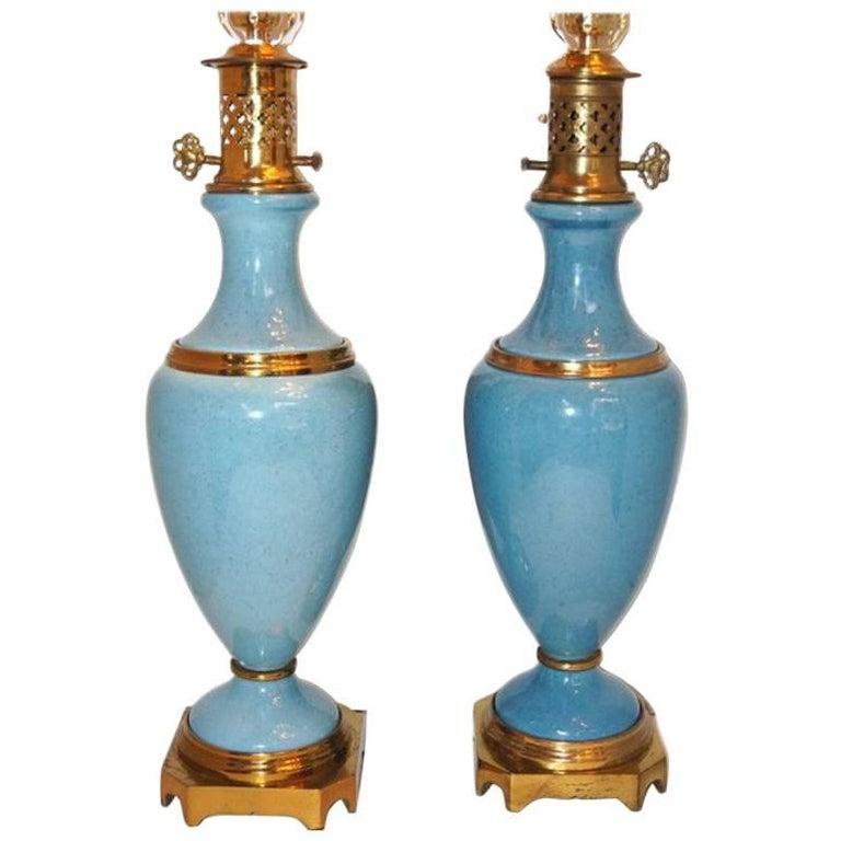 Light Blue Porcelain Lamps
